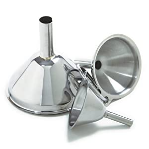 Amazon.com: Norpro 3-Piece Stainless Steel Funnel Set: Kitchen