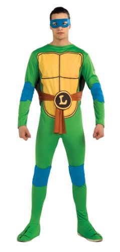 Nickelodeon Ninja Turtles Adult Leonardo and Accessories, Green, x-Large Costume (Ninja Turtle Costume For Adults compare prices)