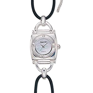 avalon lasso series sterling silver watch with genuine mother of pearl dial model 7340