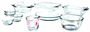 Anchor Hocking 15-Piece Oven Basics Bake Set, Crystal Clear by Anchor Hocking