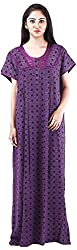 Milan Collection Women's Printed Dressing Gowns & Kimonos (MC-150_38, Purple, Size - 38)