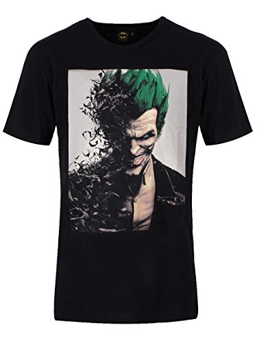 Batman Arkham Origins T-Shirt Joker Face black Size L