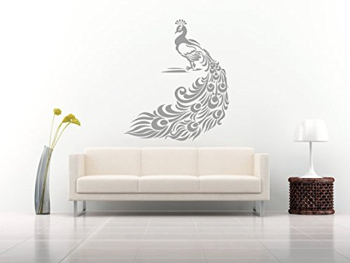 Wall Decal Vinyl Sticker Decals Art Decor Design Peacock Bird Feather Tail Pin Bedroom Style Fashion (R99) front-653291