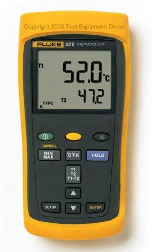 Fluke 52-2 Dual Input Digital Thermometer, 50 Series II