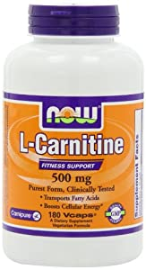 (五星)NOW Foods L-Carnitine 500mg 瘦身佳品 左旋肉碱 180粒 SS后$28.57