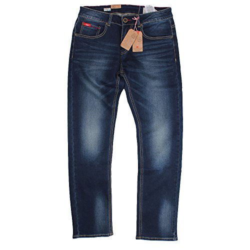 Lee Cooper -  Jeans  - Uomo Dark Wash 34W x 32L
