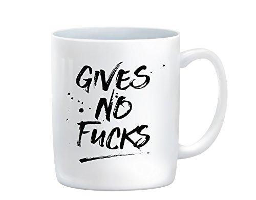 Funny Coffee Mug - Gives No Fucks Coffee Mug 11 oz Coffee Cup Inspiration Gifts