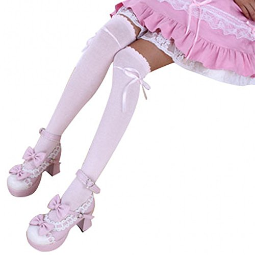 Urparcel Women Girls Over Knee Thigh High Cotton Long Knitted Boot Hosiery Socks