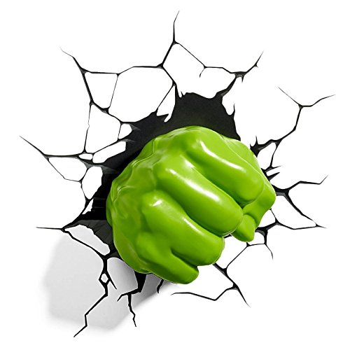 3D Light FX Marvel Hulk Right Fist 3D Deco LED Wall Light