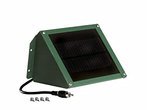 Solar Charger for Bird and Koi Feeders, Green Finish