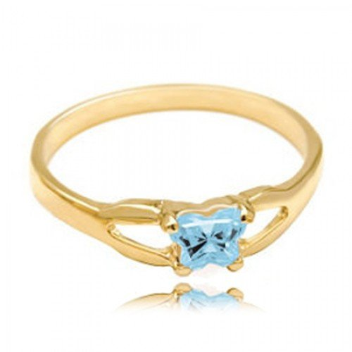 10k Yellow Gold Child'S March Blue Green Cubic
