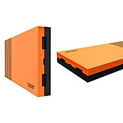Tukzer 15000mAh Power Bank High Quality Li-Polymer External Battery With Dual USB 2.0A Output (Orange)