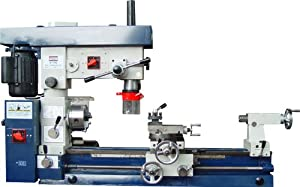 """Bolton Tools Combo Lathe Mill Drill 12"""" X 30"""", Separate Lathe & Mill Motors 3/4 Hp Each,110v or 220v, Without Stand Similar Machines Don't Allow for Usage of Both Lathe & Mill Operation At the Same Time"""