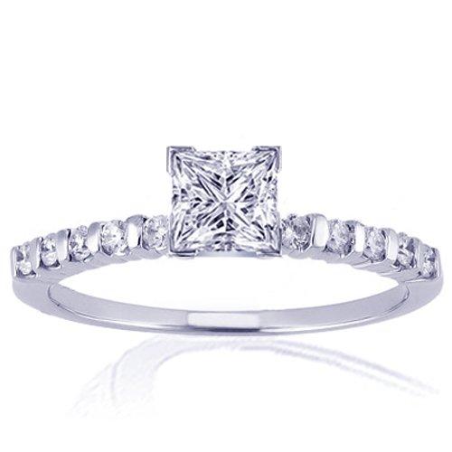 1.20 Ct Princess Cut Diamond Engagement Ring