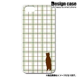 iphone5 ハード ケース カバー ジャケット/1086_チェック猫シルエットグリーン/CR
