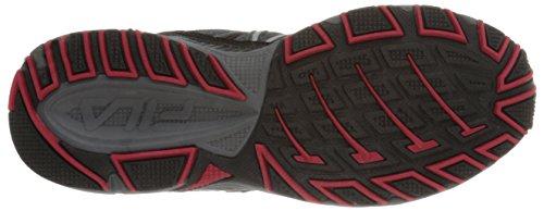 Fila Men's Headway 6 Running Shoe, Castlerock/Black/Fila Red, 8.5 M US
