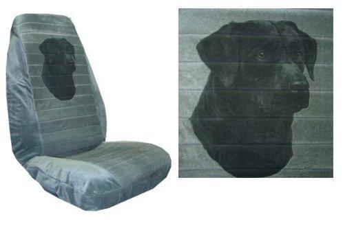 Car Truck Suv Black Lab Head Labrador Dog Print Seat