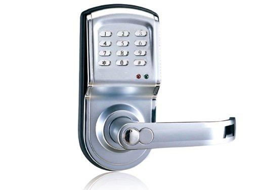 Laykor 6600-88 Digital Keyless Electronic Pad Door Lock, Right Hand, Silver