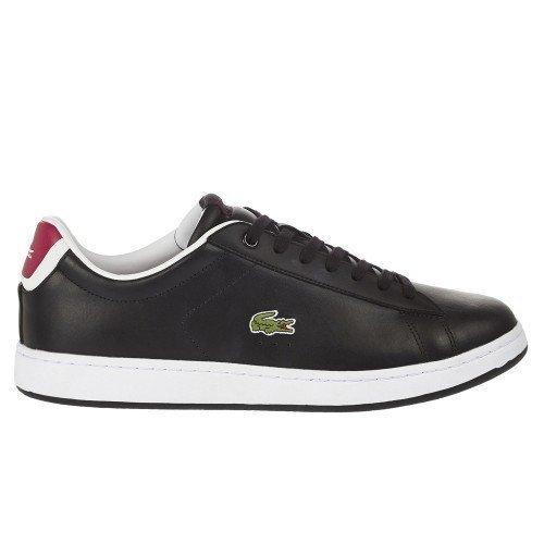 Scarpe Lacoste Carnaby Evo Crt Sneakers Pelle Nera Modello Stan Smith A/I 2015 Spm00122E9 - 40