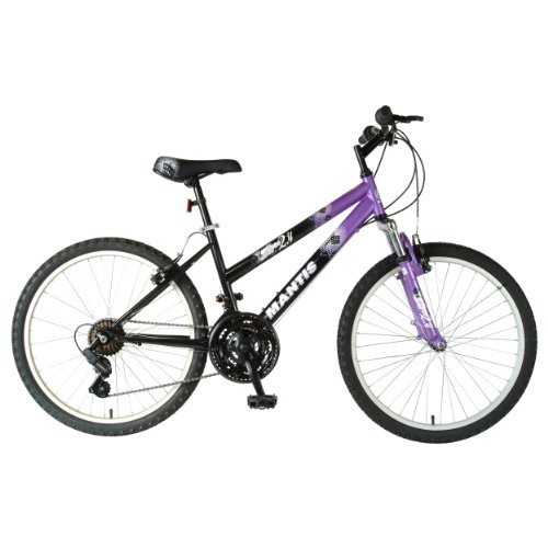 Mantis Girl's Raptor Mountain Bike (Black/Purple, 24 X 16-Inch)
