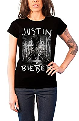 Justin Bieber T Shirt Purpose Album Cover Official Womens Black Junior Fit