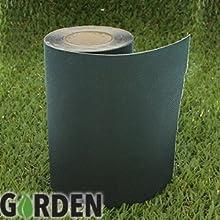 Amazing de césped artificial Césped cinta adhes 5m x 15cm), diseño de flor, color verde Fijación cinta adhes