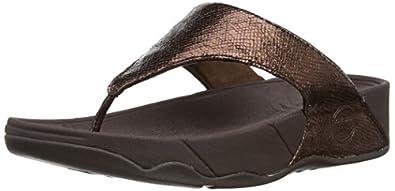 Fitflop Womens Lulu Lustra Fashion Sandals 405-012 Bronze 6 UK, 39 EU, 8 US