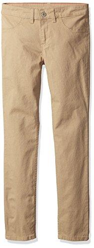 Dickies Girls' Super Skinny Stretch Pant, Rinsed Desert Sand, 12