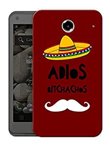"""Adios Bitchachos Moustache Taco Man Printed Designer Mobile Back Cover For """"Lenovo S880"""" By Humor Gang (3D, Matte Finish, Premium Quality, Protective Snap On Slim Hard Phone Case, Multi Color)"""