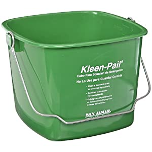 San Jamar KP256 Green Kleen Pail Container, 8qt Capacity, For Cleaning