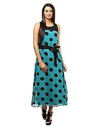 Mayra Women's Georgette Dress (1604D19316_M Green)