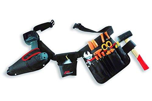 Werkzeuggürtel mit Accubohrertasche und Werkzeugtasche mit 15 Fächer und Hammeschlaufe, 52180TB