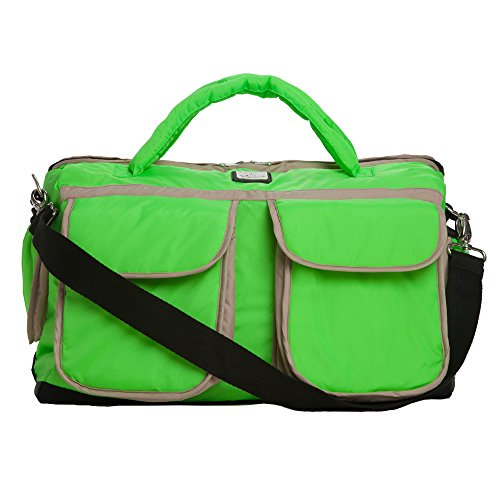 7AM Enfant Voyage Diaper Bag, Neon Green, Small