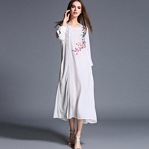 &zhou China National ricamo a mano di seta vento/Ma/pura / / abbigliamento/vintage/moda/giacche/camicie/Abiti da donna , blue , l