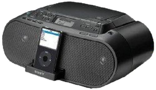 Sony ZS-S2iP CD Boombox with iPod Dock, Black