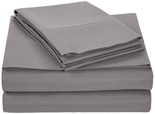 Find Bargain AmazonBasics Microfiber Sheet Set - Full, Dark Grey