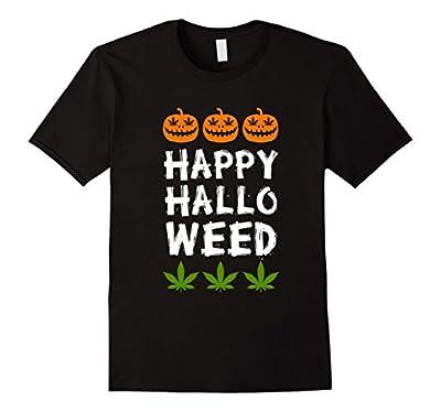 Happy Halloweed Weed Reefer Hemp Cannabis Halloween T Shirt by Happy Halloweed Tees