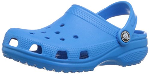 Crocs Classic Sabot K Zoccoli e Sabot, Unisex Bambino, Blu (Ocean 456), 27-28 IT (27-29 EU)