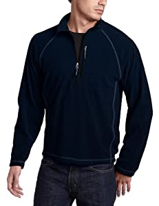White Sierra Men's Pinnacle Quarter Zip Fleece Pullover (Navy, X-Large)