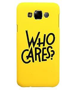 KolorEdge Back Cover For Samsung Galaxy E7 - Yellow (5874-Ke15090SamE7Yellow3D)