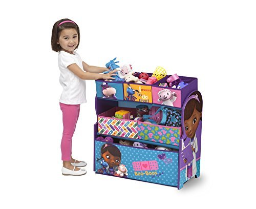 Fun Doc Mcstuffins Multi Bin Toy Storage Toy box Containers and Toy Chest Organizer Bins for Kids Pet Toys, Cars and Accessories - Children Home Box Units Solutions (Doc Mcstuffins Toy Box compare prices)
