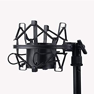 ZINGYOU Condenser Microphone Bundle, BM-800 Mic Set for Studio Recording & Brocasting (Microphone Kit (Black)) (Color: Microphone Kit (Black))