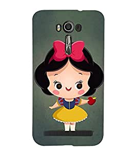 99Sublimation Cute Girl with Red apple in hand 3D Hard Polycarbonate Back Case Cover for Asus Zenfone 2 Laser ZE601KL