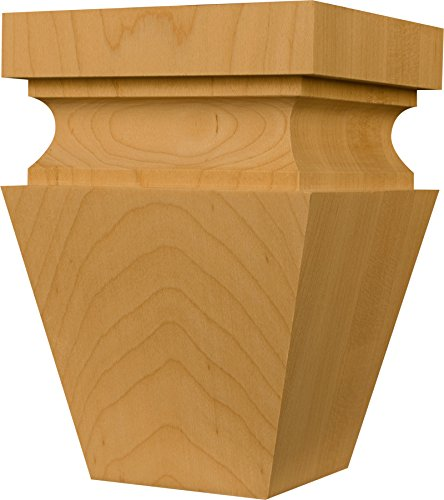Hartford Square in Knotty Pine - Dimensions: 6 x 4 inches (Unfinished Wood Bun Feet compare prices)