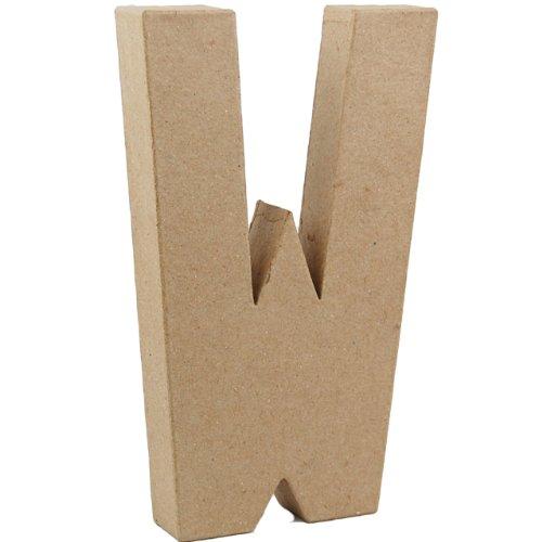 country-love-crafts-825-inch-205cm-3d-letter-w-papier-mache