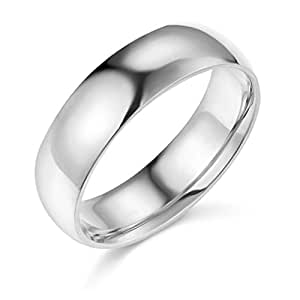 Amazon 14k Yellow Or White Gold 6mm Plain Wedding Band Jewelry