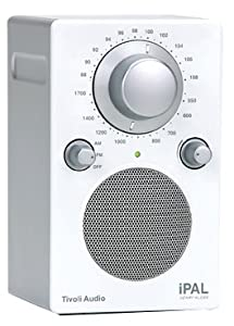 Tivoli Audio iPAL Portable Audio Laboratory AM/FM Radio, Silver/White