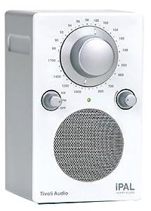 Tivoli Audio iPAL Portable Audio Laboratory AM/FM Radio, Silver/White