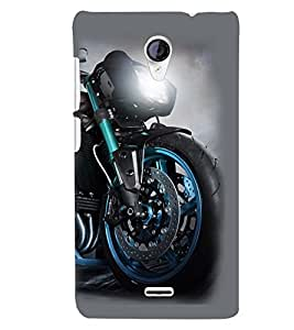 Printvisa Sporty Stylish Blue Bike Back Case Cover for Micromax Canvas Unite 2 A106