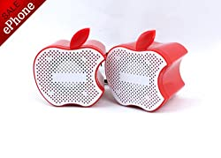 ePhone Applee Design Fashion Min Speakers For MP3 Player,PC,iPhone,Mac,iPod,iPad,Phone-Red